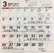 3月の営業日カレンダーをアップしました